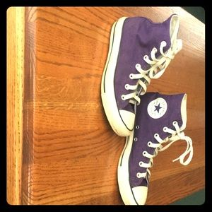 Purple Chuck Taylor/Converse High Top Sneakers